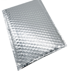 Wholesale Lightweight Logo Printing Glossy Aluminum Metallic Holographic Bubble Mailer
