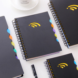 PP Hardcover Thick Inner Page Lined Dot Grid Spiral Binding Notebook with Plastic Cover