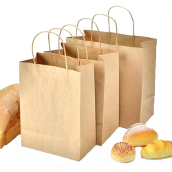 Customized Hot Sale Reusable Greaseproof Take Out Food Paper Packaging Food Delivery Bag For Bread