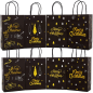 Blank Custom low MOQ gift paper bag kraft paper bag with logo print