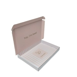 Corrugated Box Wholesale Custom Printed Mailer Shipping Carton Paper Gift Packaging Coated Paper Foldable Gift Packing L*W*H Cm