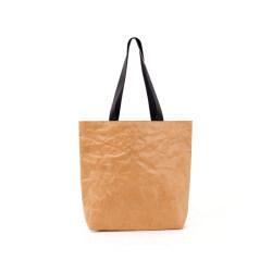 High quality washable kraft paper bag travel use handbag