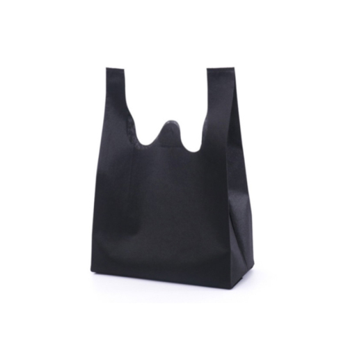 Promotional PP non woven vest carrier shopping bag with logos custom print
