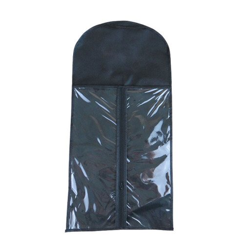 Non woven wig storage bag with hanger custom hair packaging bags custom logo