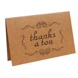 Factory Direct Custom Greeting Cards Kraft Paper Crafts  Gifts for Guests Thank You Card for Luxury Wedding Invitation