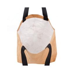 Customized logo waterproof kraft paper storage bag cosmetic bag