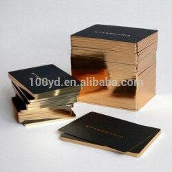 Luxury Gilding Edge Black Cardboard Visit Cards with Screen Printing