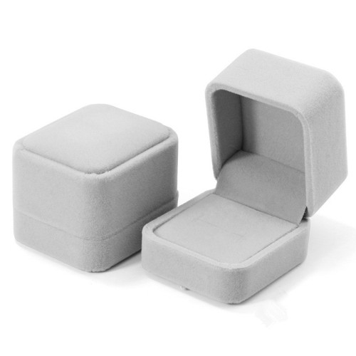 Wholesale  suede flocking jewelry box for pendant ring bracelet and earrings packaging boxes