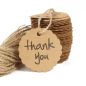 Kraft Paper Round Gift Tags Thank You Blank Garment Label Cards Wedding Party Price Handmade Paper Label Hang Tag