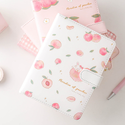 A5 PU Leather Cover Notebook Travel Diary Journal with Magnetic Buckle