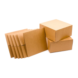 Premium Gift Boxes Brown Paper Box With Hemp Rope for Christmas Gifts, Bridesmaid Proposal, Easy Assemble Boxes