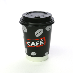 Wholesale Customized 8oz Disposable Coffee Shop Take Away Double Wall Paper Cup for Hot Drinks