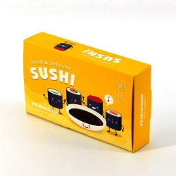 Wholesale take out sushi box paper eco-friendly and food grade paper disposable snack box sushi to go box