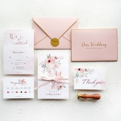 modern fancy Wedding invitation card luxury eco friendly  gold foil print embossed  card  with own logo