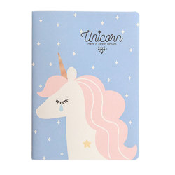 Wholesale Custom Printed Pages Unicorn Cover B5 Organizer Anime Notebook