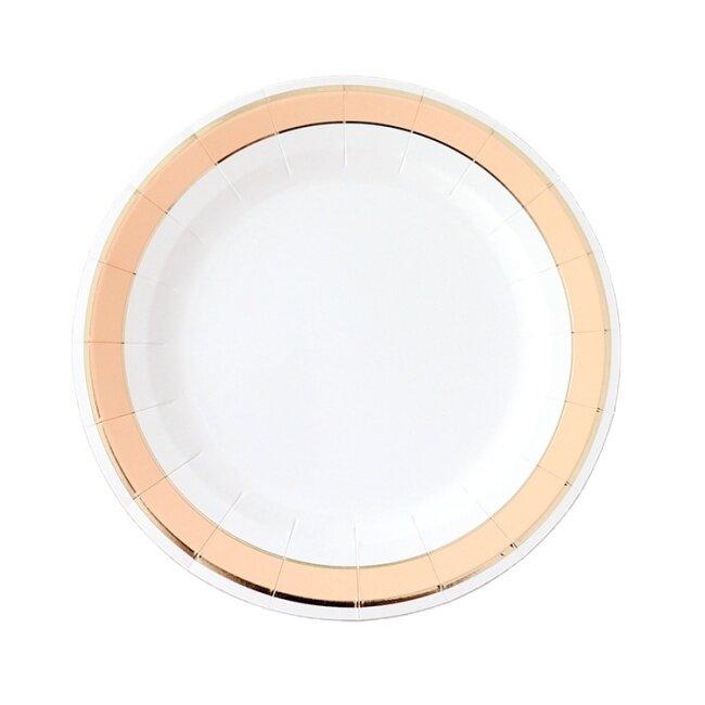 Waterproof Sturdy Paper Dish Plates Unique Design Party Tableware Gold Foil Paper Plate