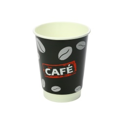 Wholesale Supermarket Coffee Shop Take Away 8oz Paper Coffee Cup Customized Printing Disposable Coffee Paper Cup with Lid 12oz