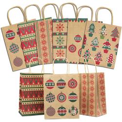 China Manufacturer OEM Custom Made Christmas Printed Kraft Paper Bag Bag with Logo