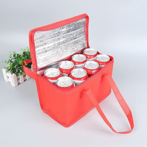 PP non woven laminated food bag custom design insulated lunch packaging bag