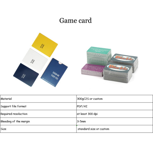 Can be customized family party table game toy game card board game card manufacturers wholesale