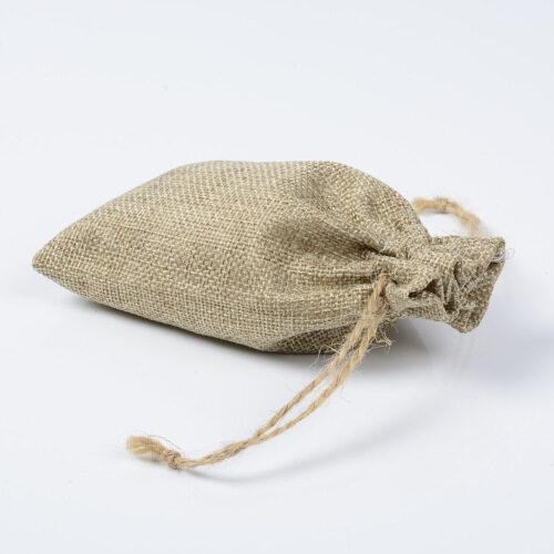 Custom Logo Printed Jute Wholesale Burlap Eco Friendly Hemp Gift Drawstring Bag with String