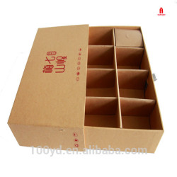Wholesale Recycled Paper Cardboard Cookie Food Gift Box with Dividers and Packaging Box Printing