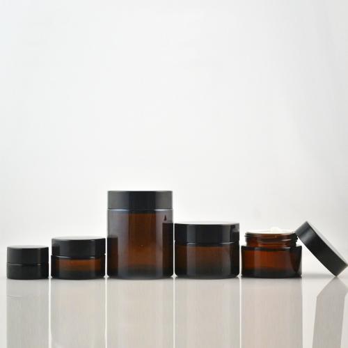 custom design clear 5g 10g 15g amber with twist lid eye cream skin care bottle cosmetic glass jar 4oz glass packaging