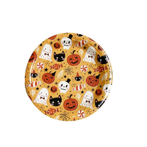Decorative Custom Print Napkins Custom Print Halloween Disposable Party Paper Plates
