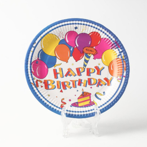 Disposable customized birthday party plate high quality  custom color paper plates