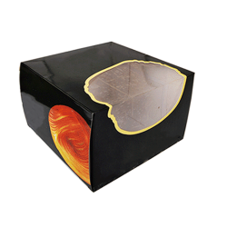 1/2/3/4/6 cupcake box muffin box open window muffin box bran cup carton