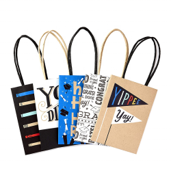 Mini Size Graduation Gift Bags Kraft Paper Small Gift Bags For College, High School