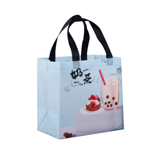 Custom Design Lunch Takeaway Bag Non Woven Bag Food Carrier