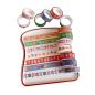Paper colorful printed masking carton logo decorative journel stickers adhesive gold foil custom washi tape set