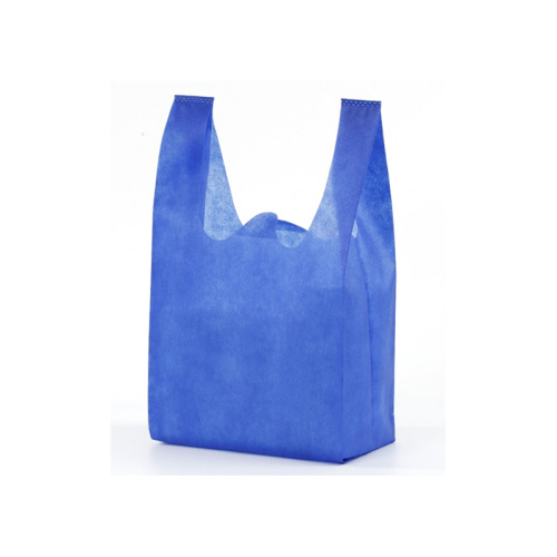 Colorful non woven vest eco friendly bags for fruits with customized logo