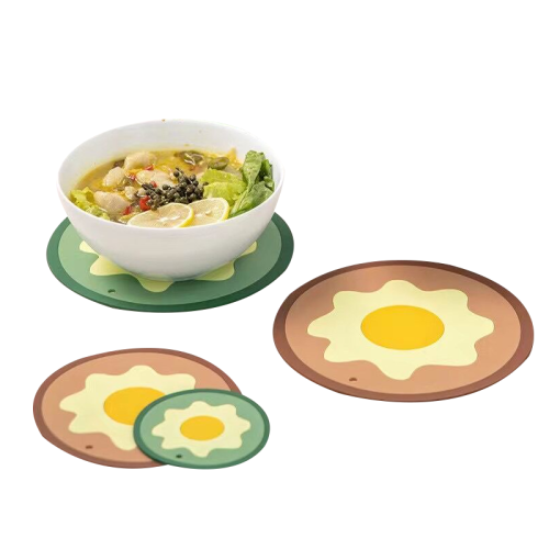 Eco-friendly customized shape silicone heat resistant dining table place mat