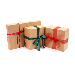 Shirt Size Gift Boxes Kraft Brown Paper Box For Christmas, Holidays, Birthdays, Father's Day With Own Design
