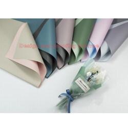 Custom Printing Korean Style Flower Rose Wrapping Packaging Roll Paper