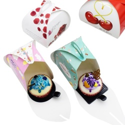 Mini Cake Boxes Packaging Custom Cakes And Pastries Packaging With Handle