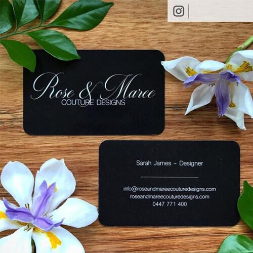 Fancy Suede Paper Custom Business Card Design