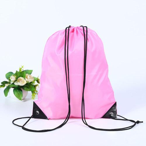 Factory Custom Logo Gym Sports Backpack 210D Polyester Drawstring Bag Printing Draw String Bag For Promotional