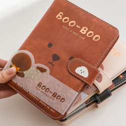 School Promotional Customized Leather Journal Lined Promotion Journal Printing Custom Notebook with pocket