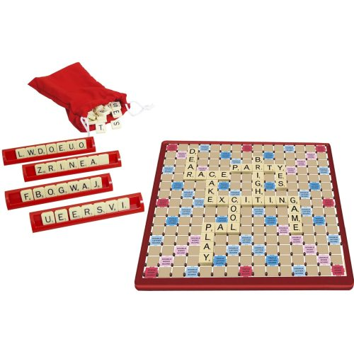 Scrabbl Educational Toy Alphabet Learning Wooden Letter Toy Game Information Card, Digital Table Number Card Holder Toy For Kids