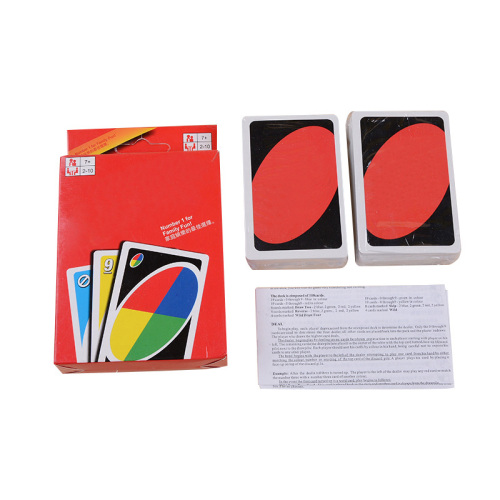 custom a whole set printed colorful design same back different front playing cards