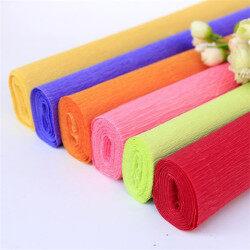 DIY Decoration Handwork Premium Colored Crepe Custom Logo Printed Tissue Gift Wrapping Wood Pulp Craft Paper