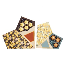 Chinese Supply Chocolate Packaging Box Customized Food Grade Card Material Gift Box For Chocolate Packing