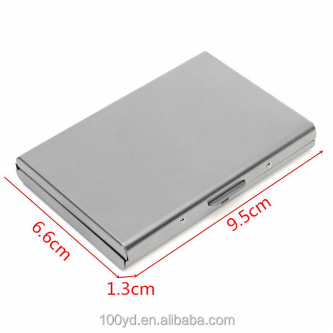 New Waterproof Stainless Iron Business ID Credit Card Holder Men Women Metal Bank Cards Wallet Case Box