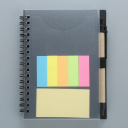 Hot Selling Promotional Cheap Bulk Prices PP Cover Spiral Binding Notebook with Colored Index Tab Divider