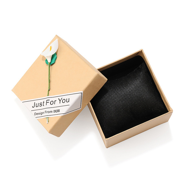Wholesale customize high-end jewelry box design print logo gift packaging boxes