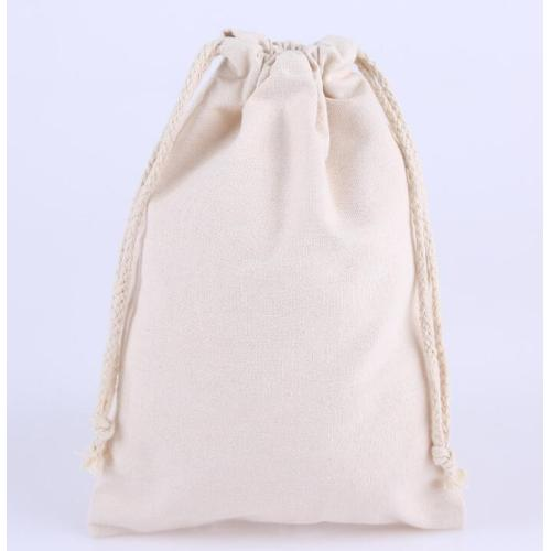 Customized Logo Personalized Colorful Canvas Cotton Pouch Double String Drawstring Bag, Drawstring Bag Custom Size