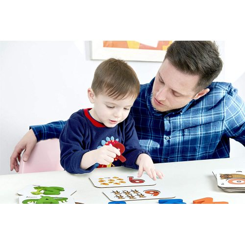 Wooden puzzle board alphabet shape match toy flash cards sight words match educational game for kids